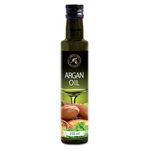 Eetbaar Argan Olie 250ml - Marroko - Edible Oil - Koudgeperst Arganolie voor Voeding - 100% Pure en Natuurlijke Rauwe Marokkaanse Arganolie voor Koken - Salade en Dressing