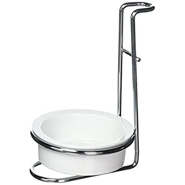 Norpro 7494 Stainless Steel Ceramic Upright Stovetop Drip Catcher Spoon Rest