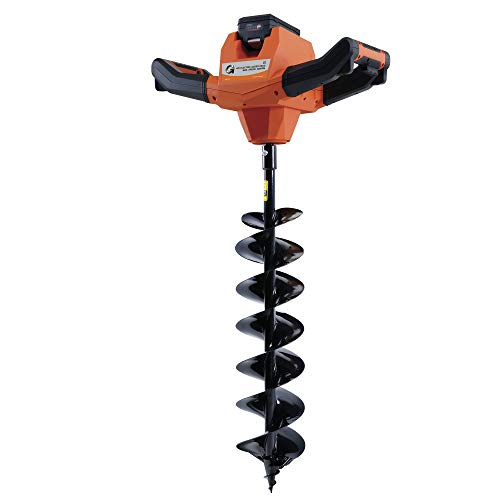 G Earth Auger Post Hole Digger Post Auger Earth Auger 48V Lithium Ion Battery Powered 6'' Earth Borer Borer Earth Auger Hole Digger Drill Bit World First Cordless Battery Powered Earth Auger