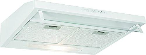 Bomann DU 623.2 Campana extractora 60cm, recirculación de aire o por conducto, 3 niveles potencia, filtros extraibles de aluminio lavables, blanca