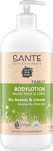 SANTE Naturkosmetik Bodylotion Bio Ananas & Limone, Geschmeidige Haut, Zartweich & pflegend, Vegan, Bio-Extrakte, 500ml