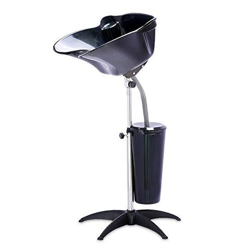Ibnotuiy Shampoo Bowl Height Adjustable Portable Shampoo Basin Barber Salon Mobile Shampoo Bowls with Drain Hose and Bucket