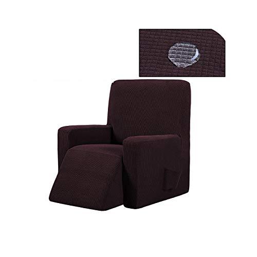 Funda de sofá de masaje de color sólido todo incluido de forro polar elástico balancín cubierta de banco de masaje para sofá de ala trasera sillón sofá-10