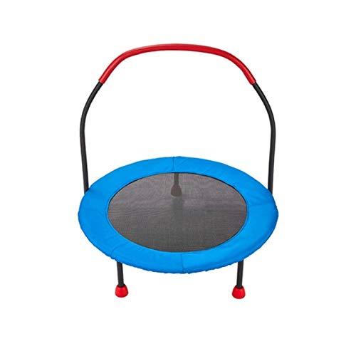 Sdesign 36 '' Fitness Ultra silencioso Mini trampolín Circular con asa Ajustable, Banda elástica Segura  Fitness Indoor/Entrenamiento en casa Cardio Formación para niños