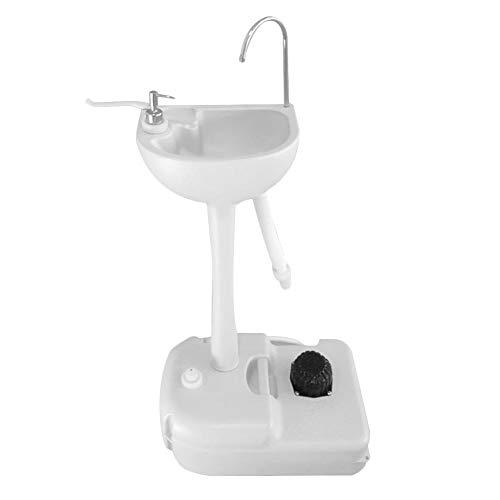 Rvest Mobiles Waschbecken Camping Waschbecken Camping Spülbecken,Mobiles Camping Waschbecken,Tragbare Fußpumpe Camping Waschbecken Handwaschbecken Stand Für Camping Im Freien