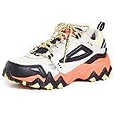 Fila Women's Oakmont TR Sneakers, Gardenia/Black/Fiery Coral, 5 Medium US