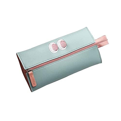 KCGNBQING Estuche de lápices de gran capacidad Caja de lápices multifunción Caja de lápiz simple de corazón de corazón lindo Estuche (Color : Green)