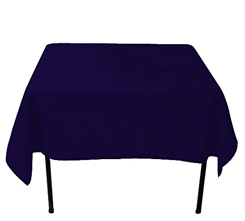 Nappe carrée pour table, tréteau pour peinture/exposition/réception, bleu marine, 229 x 229 cm