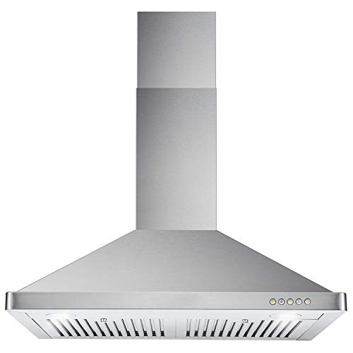 Cosmo 30 In 760 Cfm Ducted Wall Mount Range Hood Push