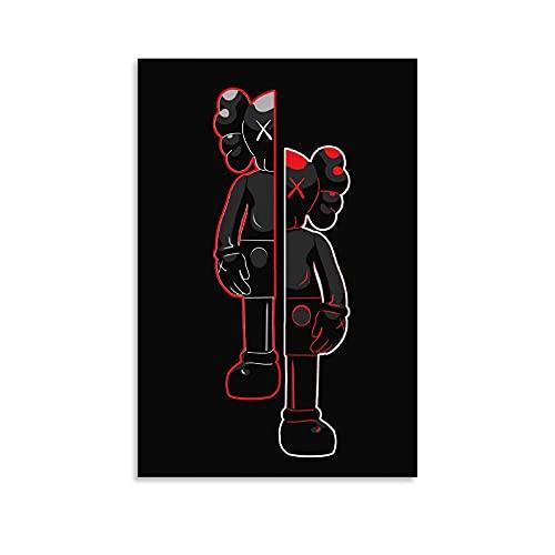 ZMSY KAWS Poster dekorative Malerei Leinwand Wandkunst Wohnzimmer Poster Schlafzimmer Malerei 08x12inch(20x30cm)