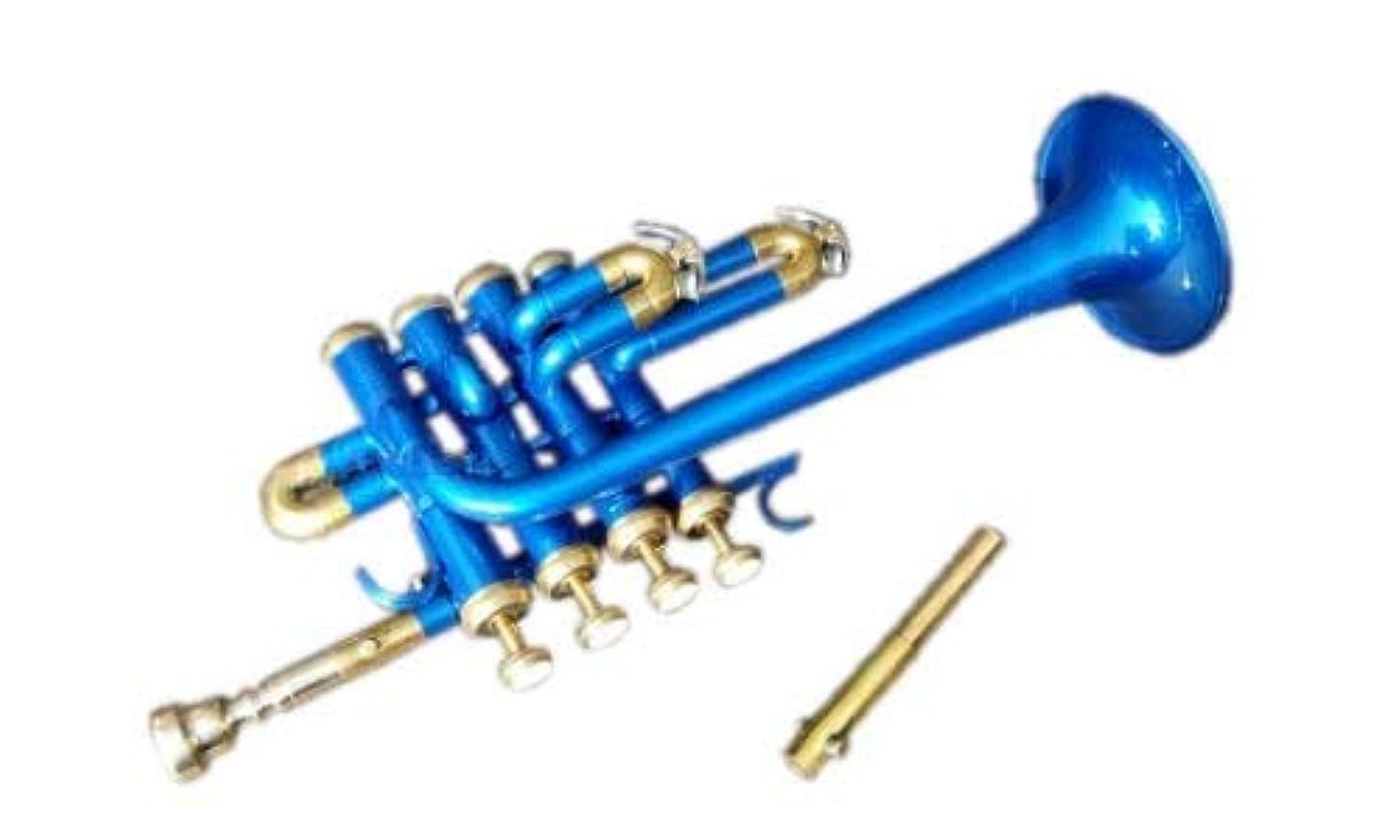 PICCOLO TRUMPET BLUE COLORED BB/A PICOLLO+MP BRASS MADE NICE SOUND PICOOLO