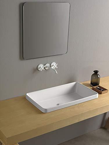Dandy Waschbecken Bad rechteckig 4 cm Abmessungen 64_x_36_cm