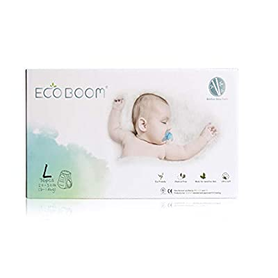 ECO BOOM Bamboo Pants Diaper Biodegradable Disposable Baby Diapers Size L 76Count-Pack Baby Nappies Training Pants