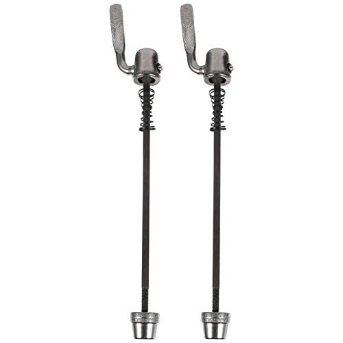 BESPORTBLE 2PCS Quick Release Rear Wheel Skewer Bike Wheel Skewers Clip Bolt Lever for Road Mountain Bike Trainer Bicycle Cycling Back Rear Wheel Tire Indoor Silver