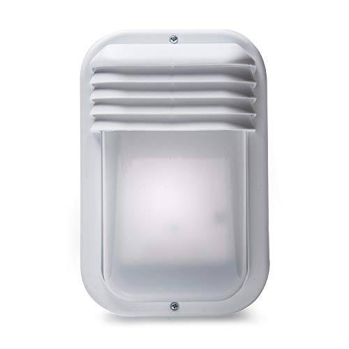 Famatel 4416G Aplique Ecoled | IP44 | E-27 | 18W |Difusor termoplástico | Vertical Blanco 🔥