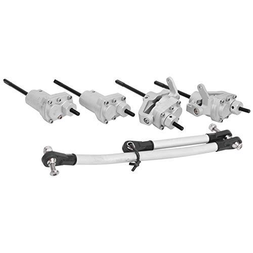 Engranajes de Estructura de Acero endurecido, fácil de Instalar, Enlace de dirección RC con Eje de transmisión de Enlace de dirección para Axial Scx10 II 90046 90047 RC(Silver)