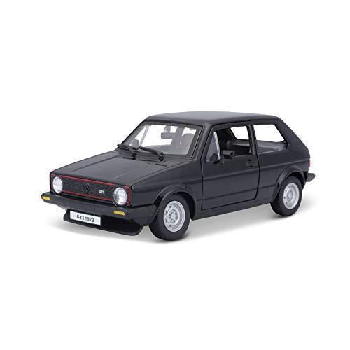 Bburago VW Golf 1 GTI (1979): Modellauto im Maßstab 1:24, Türen zum Öffnen, 19 cm, schwarz (18-21089BK)