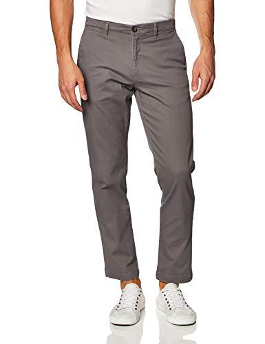 Amazon Essentials, Herren-Khaki-Stretchhose, Relaxed-Fit, Dark Grey, W38 x L32