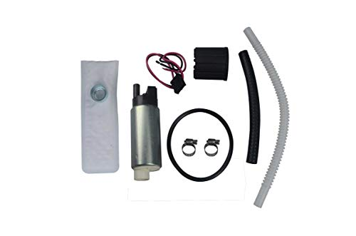 Queflago 255LPH High Performqance Electric Fuel pump with Installation kit for Aftermarket Replacement for TBI LT1 LT4 LS1 GSS317