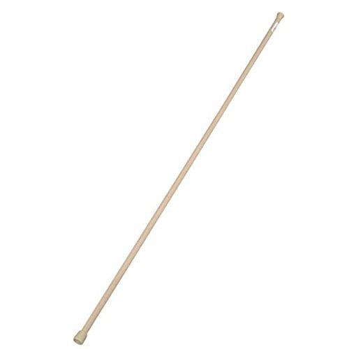 アイリスオーヤマ 突っ張り棒 伸縮棒 超スリム 幅110~190cm 木目ミディアムブラウン RSV-190