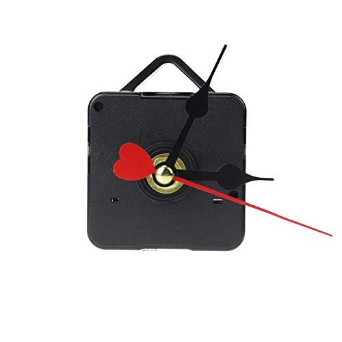 Quartz Clock Repair Replacement,Red Heart Hands Movement Mechanism Hands DIY Repair Replacement,Quartz Clock Parts