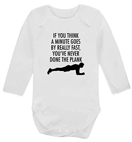 Flox Creative Gilet à Manches Longues pour bébé Minute Goes by The Plank - Blanc - XS