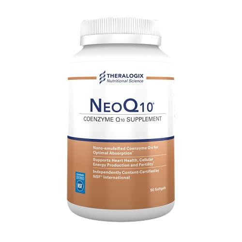NeoQ10 | Enhanced Absorption Coenzyme Q10 (CoQ10) Supplement | 90 softgels