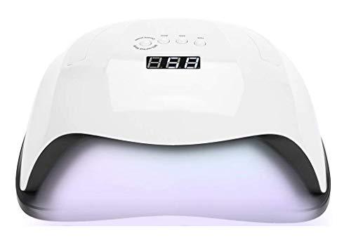 Secador De Uñas De 80 Vatios, Lámpara De Uñas LED UV Con 42 Luces Y Sensor Automático Y 4 Temporizadores, Herramientas De Manicura Para Decoración De Uñas Para El Hogar Y El Salón