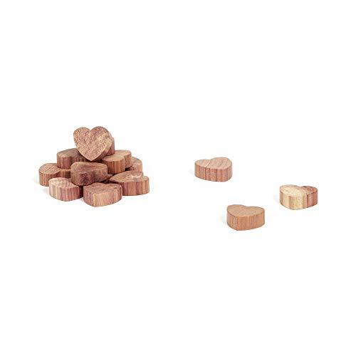 Compactor Cedar Lot 15 x Coeurs antimites en cèdre naturel, Marron, 2,5 x 2 x H 1 cm, CED025