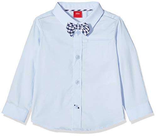 s.Oliver Baby-Jungen 59.911.21.4377 Hemd, Blau (Light Blue 5075), (Herstellergröße: 74)