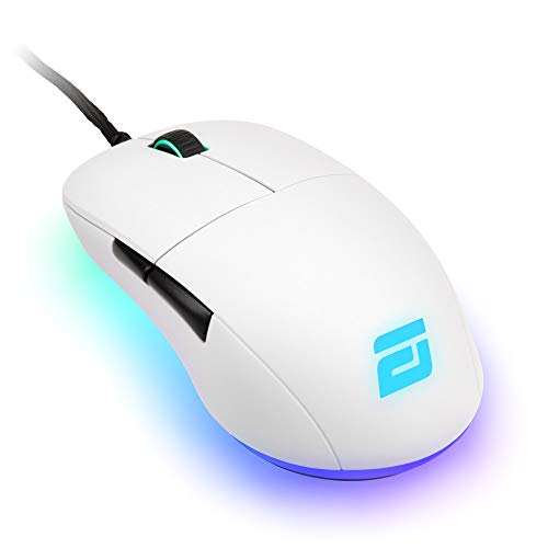 ENDGAME GEAR XM1 RGB Gaming Mouse - PMW3389 Sensor - RGB Mouse Lighting 50 to 16,000 CPI - Mouse with Side Buttons 60M Switches - Wired Computer Mouse 2.89 oz Lightweight Gaming Mouse - White