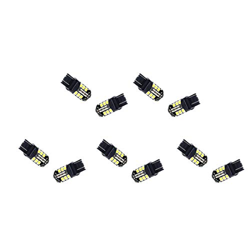 ZHUHAI HONGKANG DONGMAO TRADING CO LTD 10 pcs 5050 W21 / 5W T20 27 SMD 5050 27 SMD Cale De Frein De Voiture Arrêt Inverser Clignotant LED Ampoule 12V