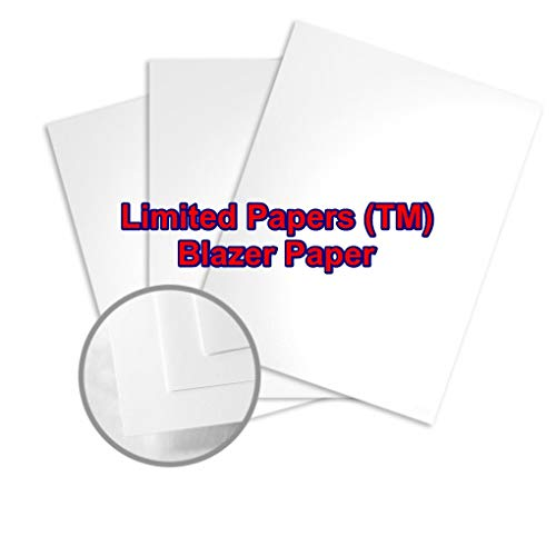 Limited Papers (TM) Blazer Digital Paper, Gloss Finish, Coated 2 Sided, White Color, 92 Brightness. Legal Size, 100 Pound.(100# Text 8.5