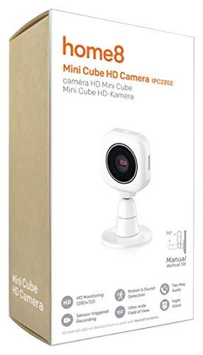 Home8 Smart-Home Draadloze HD mini-videocamera met automatische infrarood nachtzichtfunctie, met Home8 app bestuurbaar en bewaakt en kan worden gebruikt als video-babyfoon