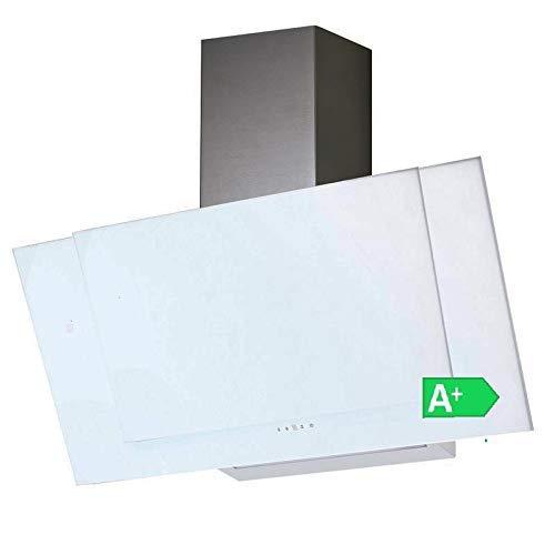 VLANO VALIO 900 XGWH Dunstabzugshaube 90 cm kopffrei weiss Glas 6 Leistungsstufen mit Nachlaufautomatik LED-Beleuchtung 44 dB(A) bis 900 m³/h