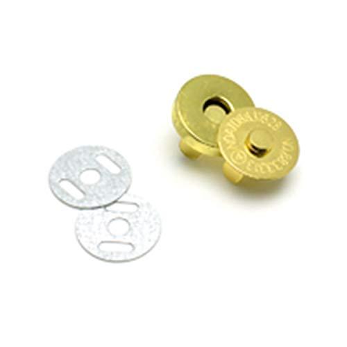 Cierres magnéticos con cierre de botones para bolso de mano, cartera, bolsas de manualidades, accesorios de 14 mm, 18 mm, 5 unidades de 18 mm, plata, 18 mm, dorado, 5 unidades