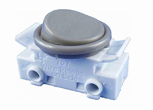 Interruptor basculante empotrable para lámpara, 2 A, 250 V, color gris, adecuado como interruptor de repuesto para las lámparas de cocina Ikea (gris)