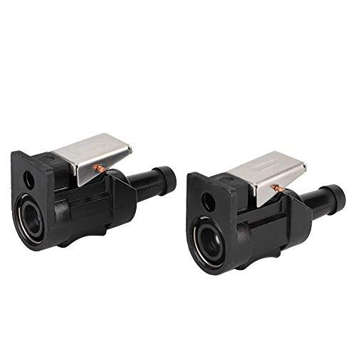 Kimiss 2 stücke kraftstoffleitung stecker, abs kraftstoffschlauch leitung anschluss fit für 8mm außenborder marine motor (schwarz)