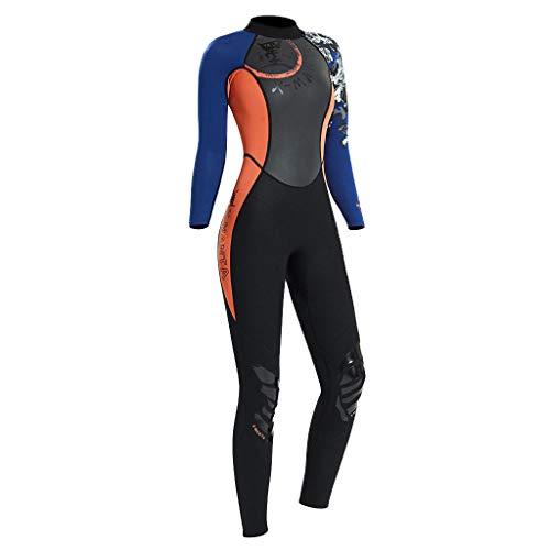 Macacão de mergulho Tongina masculino e feminino 1,5 mm para surfe de corpo inteiro Snorkeling – Laranja, G