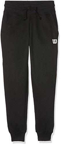 Wilson B Cotton BK Pantalón de Tenis, niños, Negro (Black), SM