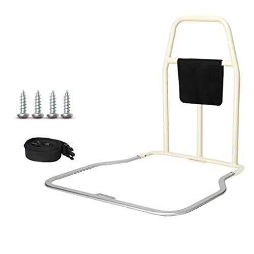 LHNLY-Handlauf Bettgitter haltegriff Bett zum aufstehen - Bettgitter für Erwachsene Senioren - Aufstehhilfe für Bett mit Lattenrost Bettgalgen Bettgeländer Einstiegshilfe (Weiß)