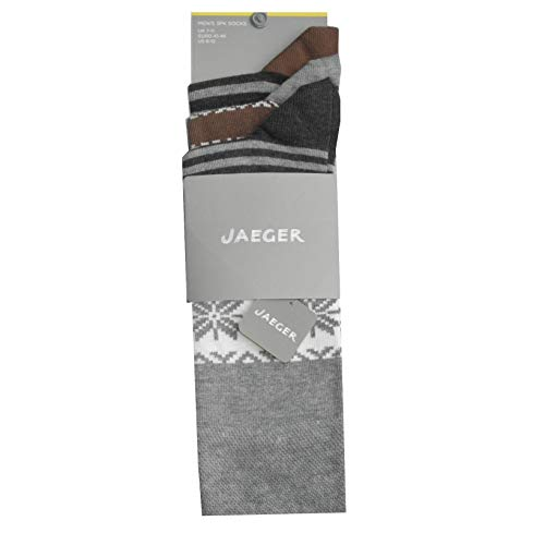Jaeger - Calcetines para hombre (3 unidades, talla única, 41-46)