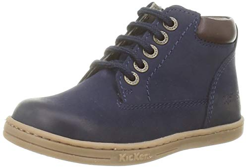 Kickers Unisex Baby Tackland Stiefel, Blau (Marine Perm 10), 24 EU