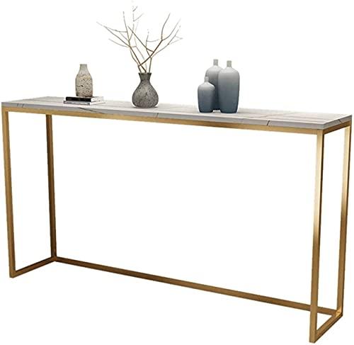 HKAFD Taburete de bar de cocina, mesa de bar de mármol, profundidad: 30 cm, estante de almacenamiento delgado, para entrada, cocina, café, mesa de comedor alta