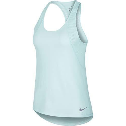 NIKE W Nk Run Tank Camiseta, Mujer, Azul (Teal Tint/Teal Tint/Reflective), S