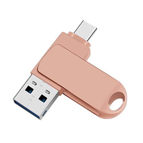 Unidad flash OTG 2 en 1 para teléfonos Android, Memory Stick (USB 3.0/Tipo C), unidad de almacenamiento externo para teléfonos...