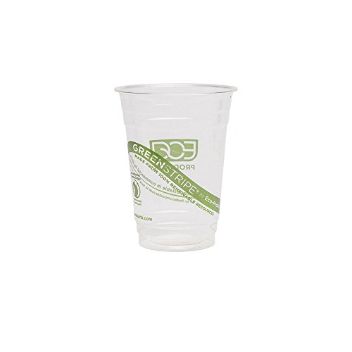 Eco-Products EP-CC16-GS GreenStripe Renewable & Compostable Cold Cups,...