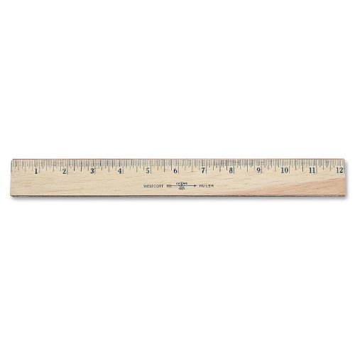 16ths and Metric 15-Inch 05225 Westcott Ruler with Double Brass Edge
