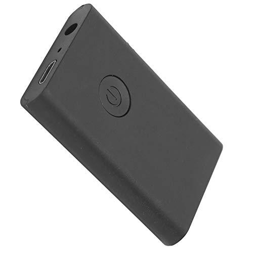 Adaptador Bluetooth 2 en 1, Receptor transmisor de Audio inalámbrico, para PC, TV, Coche, Adaptador AUX de 3,5 mm, Alcance de recepción Bluetooth de 10 m, Negro