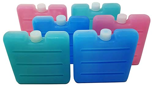 Pilix Kühlakku Mini 6X TRANSPARENT | 7,5 x 7,5 x 1,5 cm | Ideal für Lunchbox, Brotdose, Kühlbox, Icebox, Kühltüte und Kühltasche | unterwegs Immer gut gekühlt | Kühlelement | Kühlakku klein